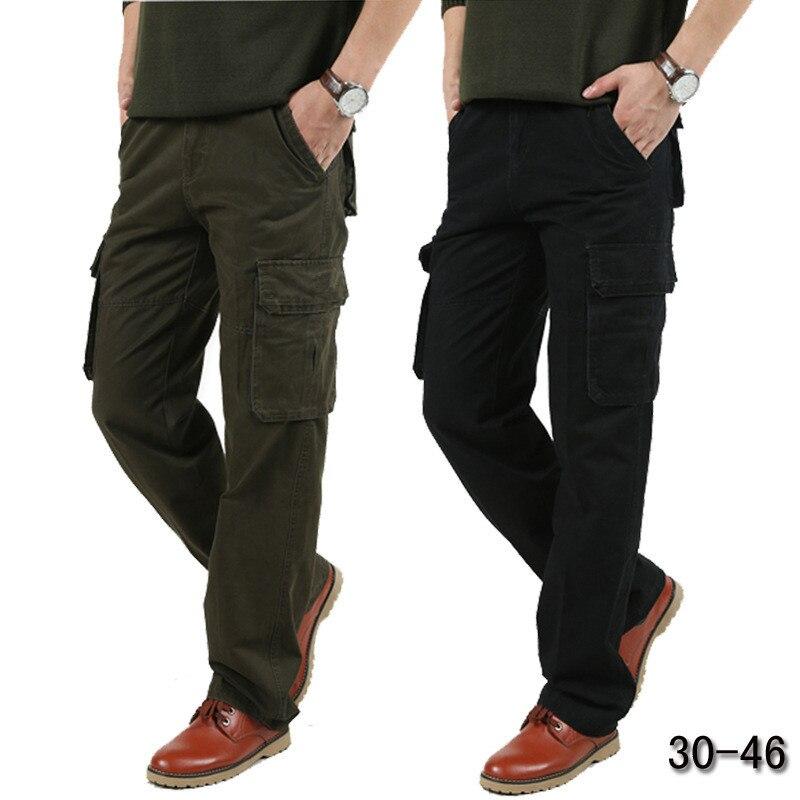 2019 New JEEP Men Men's Cargo Pants Plus Size 30-44 Pants Men Casual High Quality Cotton Military Pants Tactical Trousers