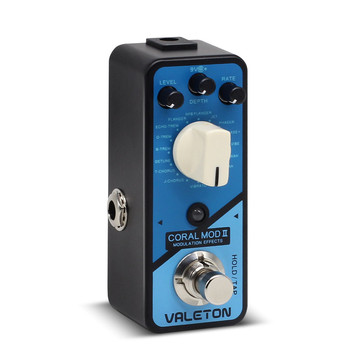 Valeton-Pedal de bajo para guitarra Coral Mod II, multiefectos, modulación Digital, Chorus...