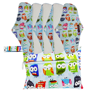 Image 5 - Gute Qualität Mama Tuch Pads Bambus Waschbar Sanitär Servietten 5 PCS MIT einem beutel