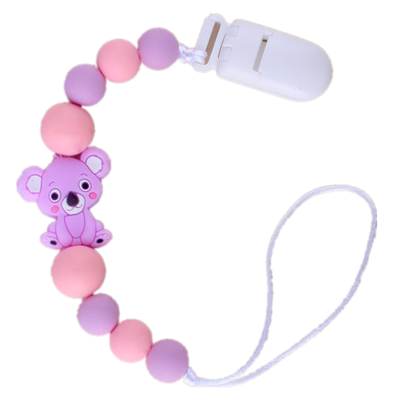 Silicone Baby Teethers Animal Pacifier Clips Chain For Baby Pendant Nipple Holder Baby Teething Toys