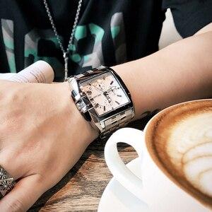 Image 2 - MEGIR erkekler büyük arama moda iş Analog kuvars kol saati paslanmaz çelik kayış spor saatler saat erkek Relogio Masculino