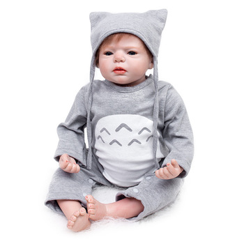 New Arrival 55CM Soft Silicone Cloth Body Simulation Reborn Baby Dolls Realistic Rebirth Babies Doll Toy Children Surprise Gifts