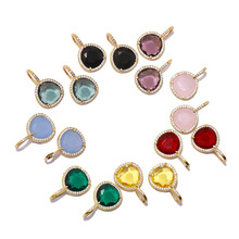 High Quality Black Green Red Blue Purple Yellow color Crystal Silver Color Full Zircon Drop Earrings for Women Best Gift
