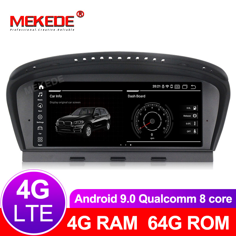 8 cœurs 4G + 64G android 9.0 voiture lecteur multimédia GPS radio pour BMW série 5 E60 E61 E63 E64 E90 E91 E92 CCC CIC masque 4G LTE WiFi