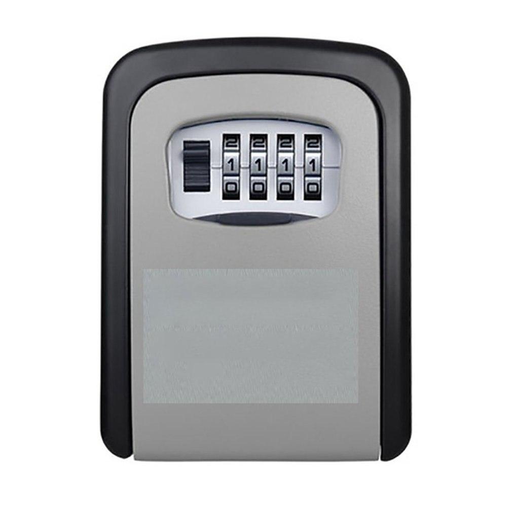 Новый замок для ключей, Настенный алюминиевый сплав, сейф для ключей, защита от атмосферных воздействий, 4 цифры, комбинированный ключ для
