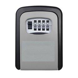 Nova caixa de bloqueio de chave de liga de alumínio montado na parede caixa de segurança chave à prova de intempéries 4 dígitos combinação de armazenamento de chave caixa de bloqueio interior outdoo