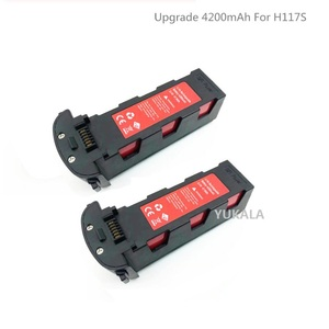 Upgrade 11.4v 4200mAh Battery with Charger for H117S Zino GPS RC FPV Racing Camera Drones Quadcopter Parts 11.4V Battery