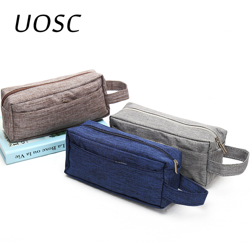 UOSC Makeup Bag Cheap Women Bags Men Large Waterproof Nylon Travel Cosmetic Bag Organizer Case Necessaries Make Up Wash Toiletry