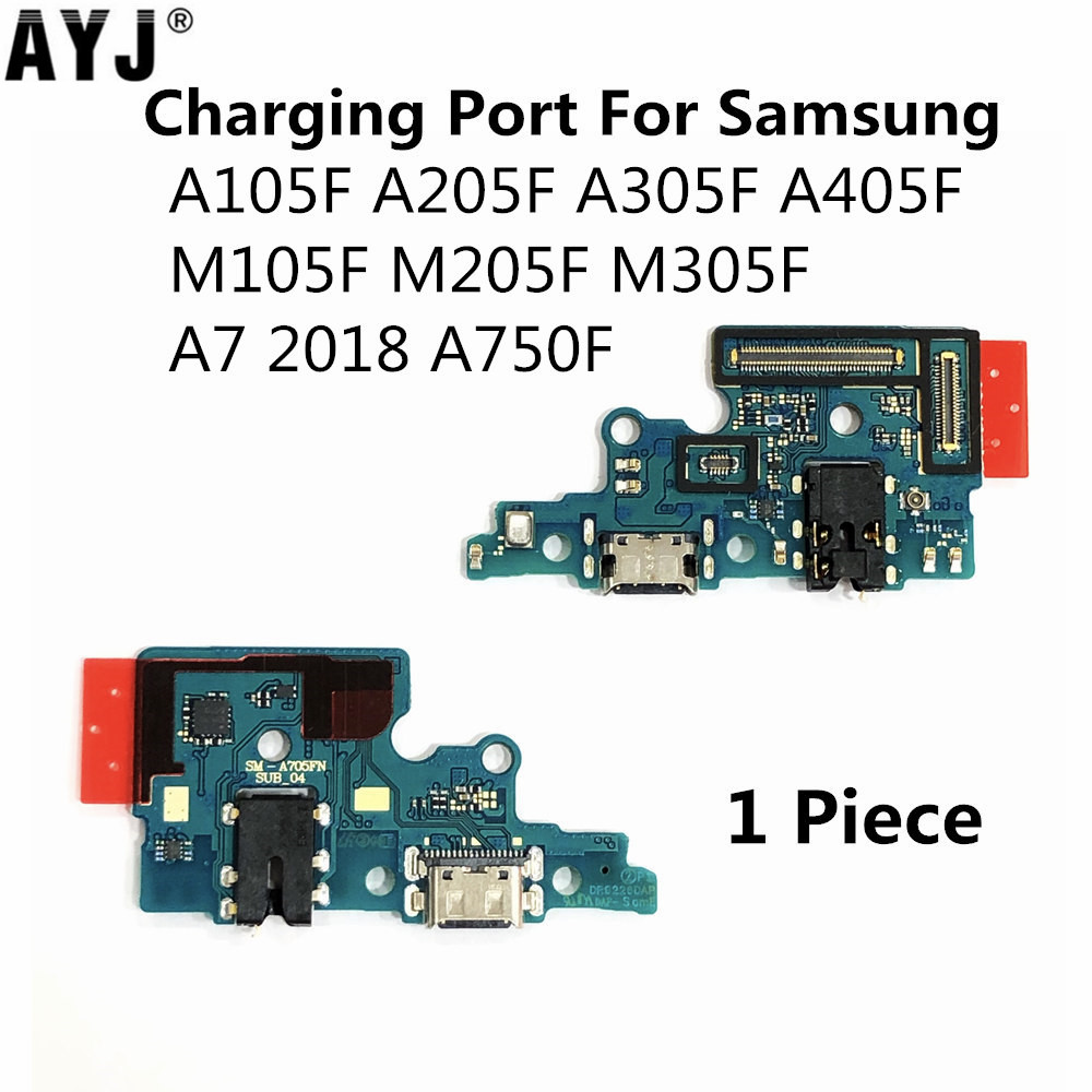 USB Charging Port Flex For Samsung Galaxy A105F A205F A305F A405F A7 2018 A750F M105F M205F M305F Charger Dock Connector Cable