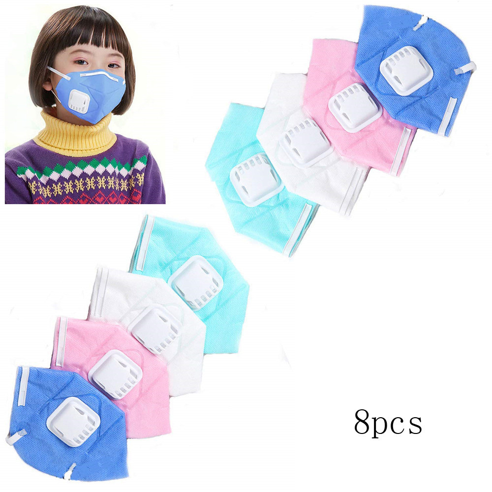 8 Piece Cute Kids Adult Anti Pollution Mask Mouth Face Mask Unisex Outdoor Protection Fabric Dust Mouth Mask #C