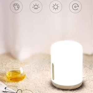 Image 5 - שיאו mi mi jia מנורה שליד המיטה 2 חכם אור קול בקרת מגע מתג mi בית app Led הנורה עבור אפל homekit Siri & xiaoai שעון