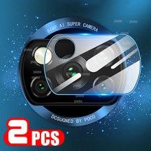 Protectores de pantalla de cristal para cámara de Xiaomi Poco X3, película templada para lente de cámara, NFC, 2 uds.