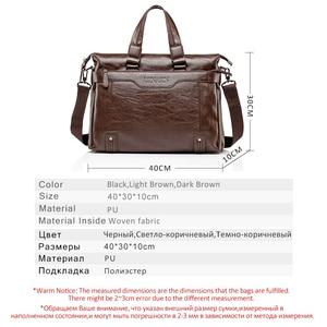 Image 2 - Mens Leather Briefcase PU Material 15inch Mens Shoulder Bag For Men Crossbody Bags 2019 Fashion Bussiness Briefcase handbag