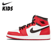 Nike Air Jordan 1 Original New Arrival  Kids Basketball Shoes Outdoor Comfortable Sports Sneakers #555088-101 original new arrival nike zoom speed tr3 men s walking shoes training shoes sneakers