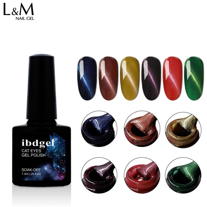 1pc Professional Super UV Led 3D Cat Eyes Gel Nail Polish Lacquer ibdgel brand Magnetic