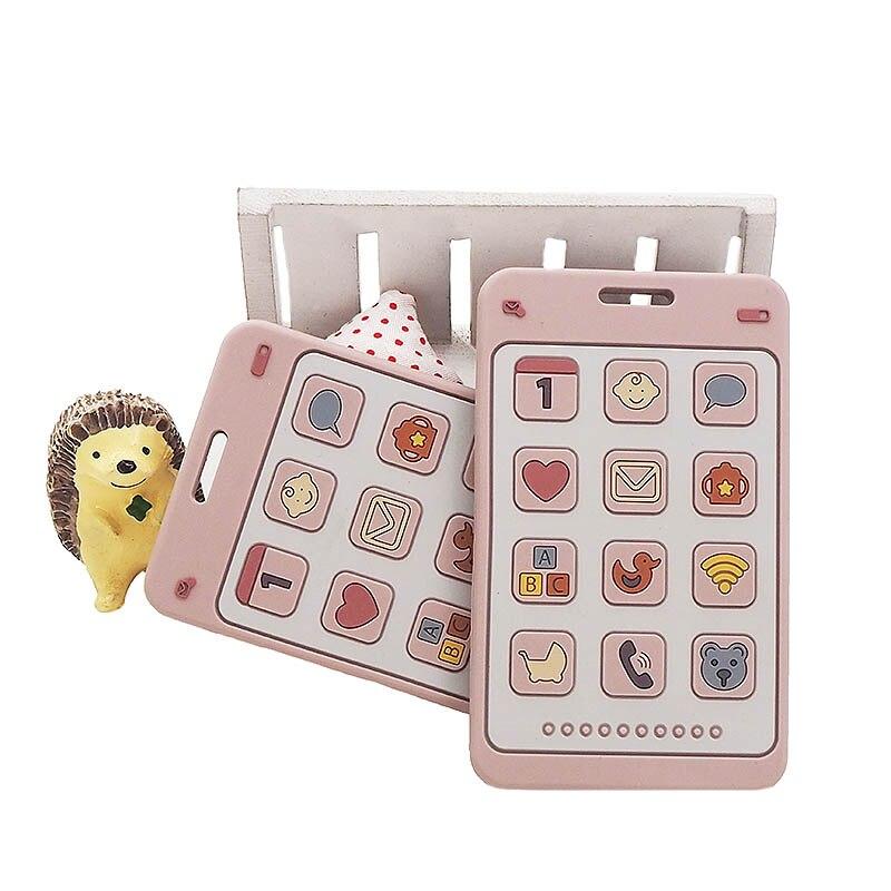 Chenkai 10 pièces Silicone téléphone anneau de dentition bébé dentition sans BPA sensoriel sucette bricolage infantile collier pendentif dentition jouet à mâcher