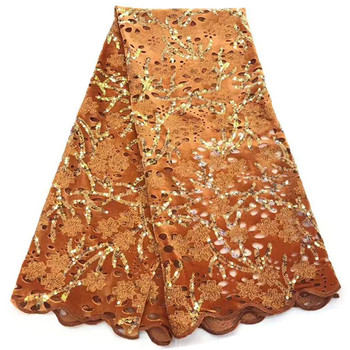 Latest African Velvet Lace Fabrics With Sequin High Quality Embroidery lace French Lace For Evening Dress  rf11-71