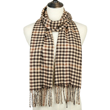 Fashion Plaid Solid Winter Scarf