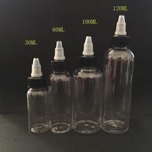 30ml 60ml 100ml 120ml bottle twist cap pet plastic liquid Dropper Bottle 7 colors scrub skull bitter bottle of bitter medicine dropper bitter bottle 30 60 120ml
