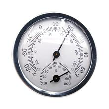 Mini 57mm Thermometer Hygrometer High Accuracy Air Weather Temperature Humidity Meter For Household Indoor Greenhouse high accuracy handheld industrial thermometer hygrometer meter tm730 digital wet bulb and dew point humidity tester instrument