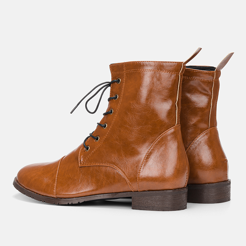 38~48 Men Boots Retro Fashion Brand Comfortable Spring Leather Boots #YSQA2