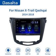 "Dasaita 10.2 ""IPS ekran Android 10 Carplay Nissan x trail için T32 Qashqai j11 radyo 2014 2015 2016 2017 2018 2019 Bluetooth"