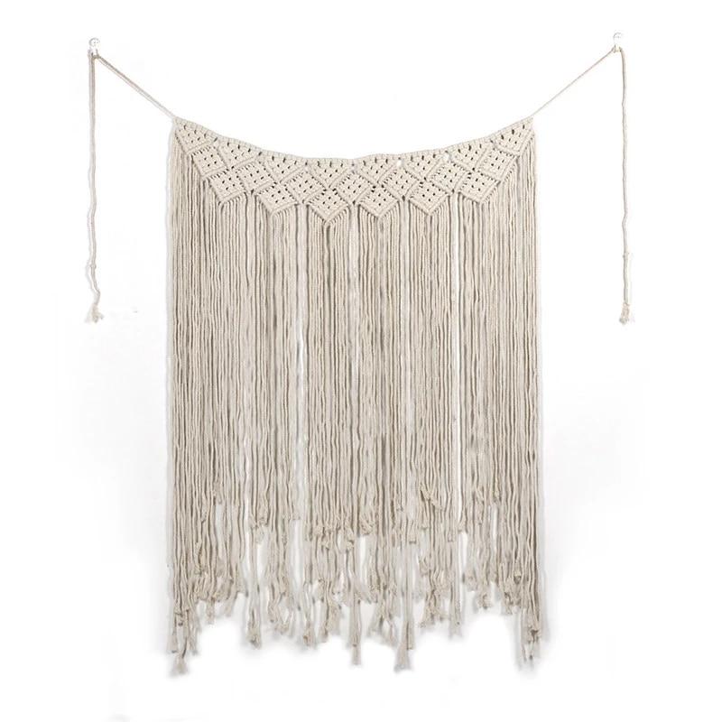 Cotton Rustic Macrame Wedding Backdrop Curtain Wall Hanging Decor