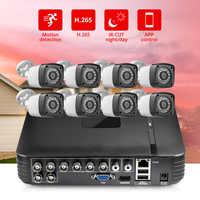 FUERS 8CH DVR HD 4MP Kamera 6in1 DVR H.265 Überwachung System Wasserdichte Outdoor Kamera Sicherheit System Video CCTV P2P HDMI kit