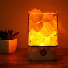все цены на Himalayan Crystal Salt Lamp USB Led UV Lamp Air Purifier Night Light Natural Anion Warm Light Table Bedroom Lava Lamp онлайн