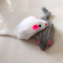 5Pcs False Mouse Cat Pet Toys Cat Long-haired Tail Mice With Sound Rattling Soft Real Rabbit Fur Sound Squeaky Toy For Cats Dogs