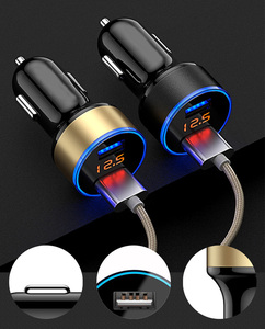 3.1A Dual USB Car Charger With LED Display for Daewoo Espero Nexia Matiz Lanos Car styling Accessories(China)