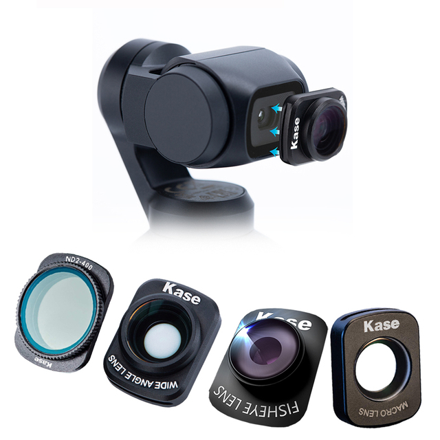 Kase ND2 400 Variable ND Neutral Density Filter/Wide Angle Lens/Macro Lens/Fisheye Lens for DJI OSMO Pocket Handheld Camera