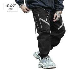 RLJT.JIN 2019 Hot High Quality Fashion Cargo Pantalones Hombre Joggers Hip Hop Pantalon Homme Jogger Harem Pants Men Streetwear icpans hip hop joggers men streetwear cotton casual harem pants black cargo pants men pantalones hombre 2019 autumn