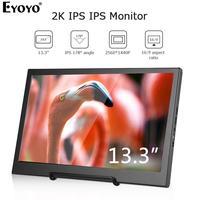 """עבור מחשב Eyoyo EM13H 13.3"""" QHD 2560x1440 2K IPS PC צג מסך המשחקים ניידים עבור צג LCD נייד PS3 PS4 HDMI מחשב (1)"""