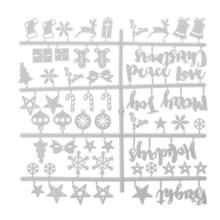 Рождественская войлочная доска с пластиковыми буквами из фетра