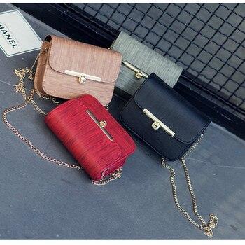 Nuevo estilo de bolsos de un solo hombro patrón de tela de moda una palabra giro bloqueo bolsa cadena pequeña bolsa cuadrada bolsa mensajero cierre