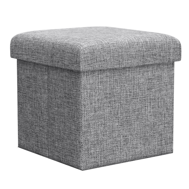 Multifunction Fodable Storage Box Linens Cube Ottoman Seat Stool Box Footrest Linens Furniture Bench Shoes Rack