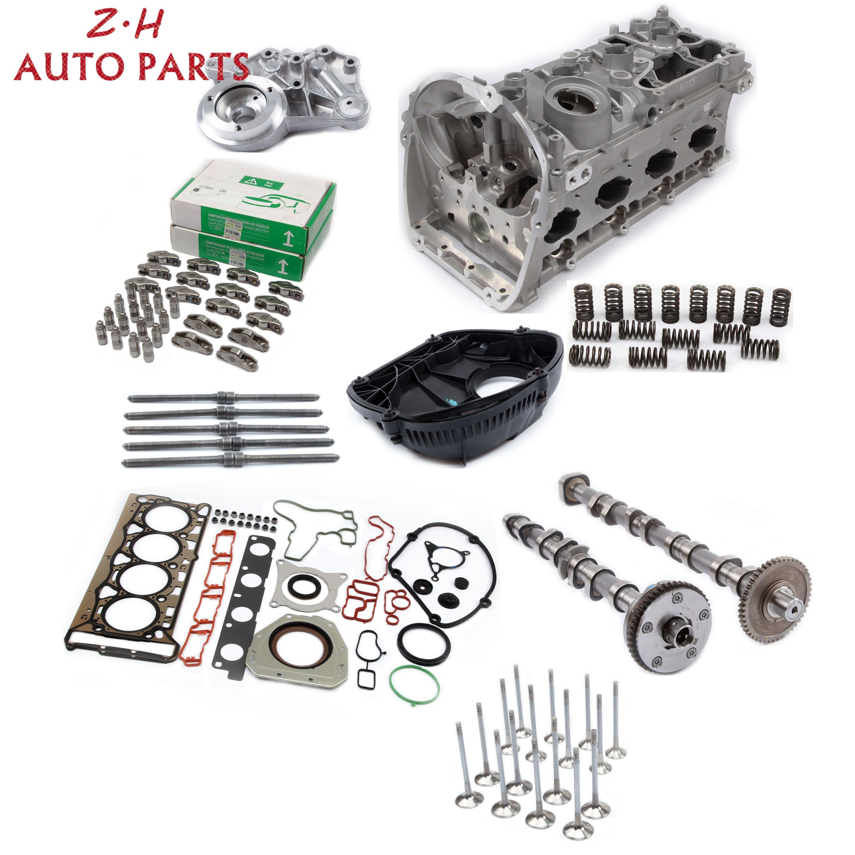 Новый комплект для ремонта двигателя уплотнительная прокладка головки цилиндра распределительный вал впускные и выхлопные клапаны компле