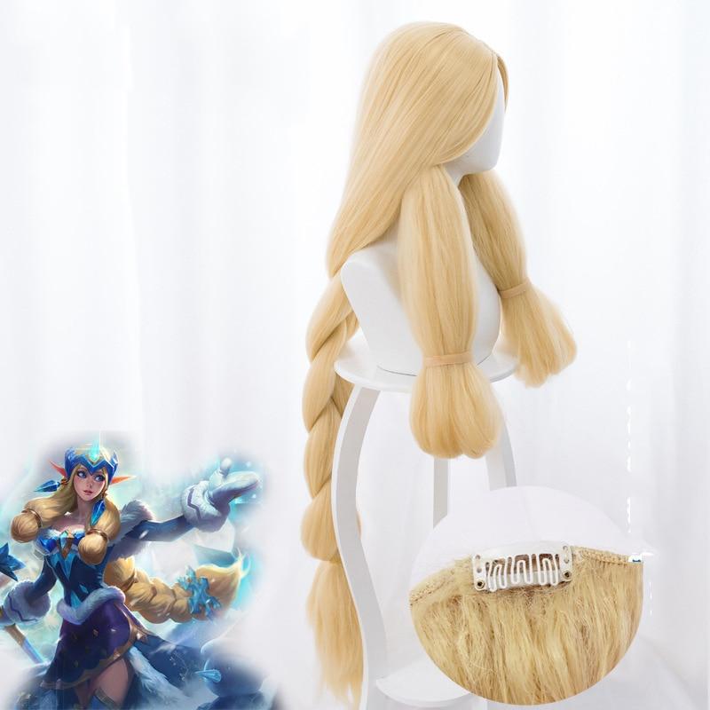 League Of Legends LOL Soraka Snow Festival Skin Twist  Cosplay Anime Wig