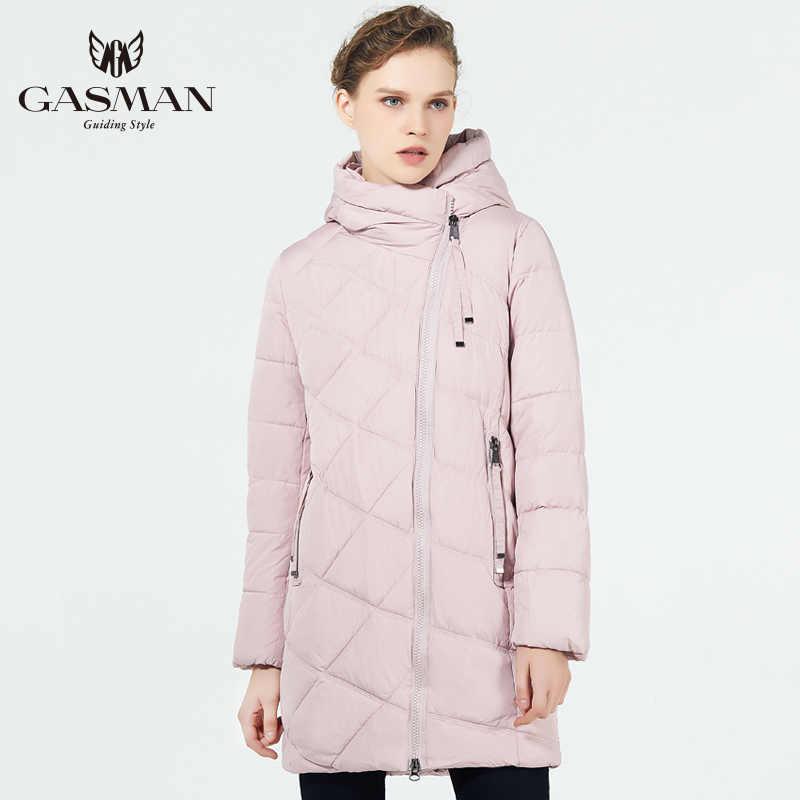 GASMAN 2019 yeni kış kadın ceketi aşağı kadın moda ceket kapşonlu sıcak Parkas kış giyim kadınlar yüksek kalite