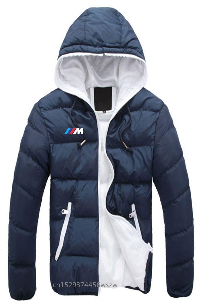 עבור חיוך bmw חורף מעיל גברים 2020 חדש כותנה מרופד עבה מעילים Parka Slim Fit ארוך שרוול צמר הלבשה עליונה בגדים חם