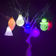 Snowman Bell PVC Light Creative Christmas Tree Hanging Ornament Outdoor Home Party Decoration christmas tree decoration ball metal decoration home christmas ornament decoration christmas party party hanging ball ornament