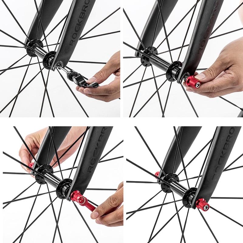 TiTo Titanium Alloy Quick Release Skewer Set BMX MTB Road Bike Bicycle Wheel Hub