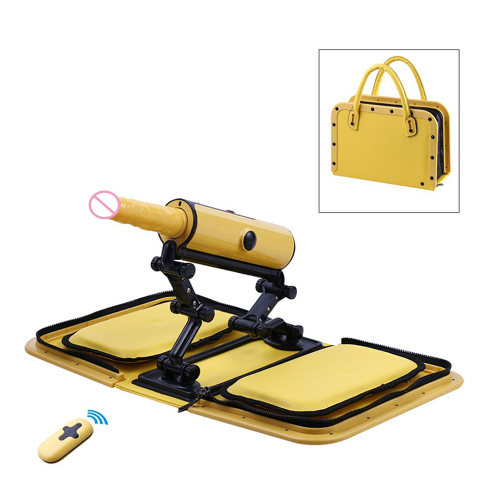 Portable Handbag Automatic <font><b>Sex</b></font> <font><b>Machine</b></font> Female Masturbation Pumping Gun with <font><b>Dildos</b></font> Attachments Automatic <font><b>Sex</b></font> Toys for Women image
