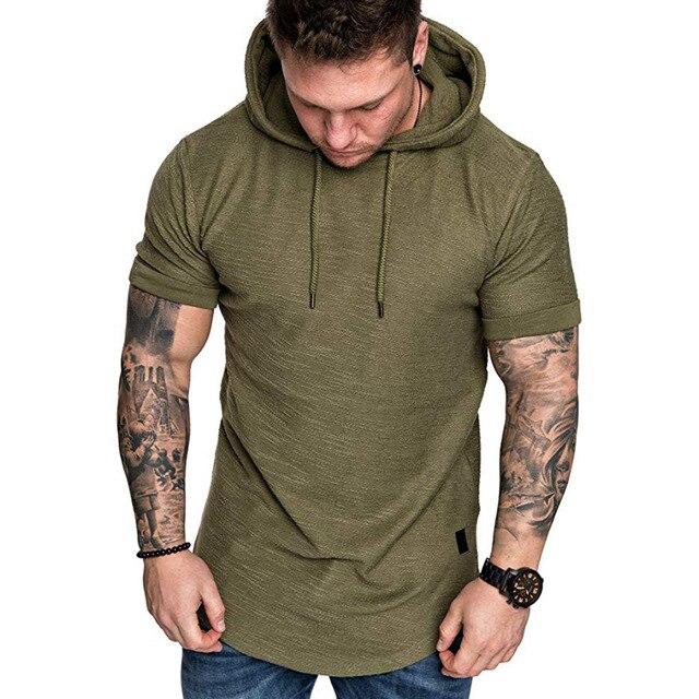 MRMT 2021 Brand New Mens Hoodies Sweatshirts Short Sleeve Men Hoodies Sweatshirt Casual Solid Color Man hoody For Male Hooded 2