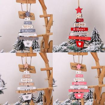 22.5*13cm New Year Christmas 4 Style Wood Ornaments Pendants Hanging Gifts Xmas Tree Decor Home Wedding Party Festive Decoration image
