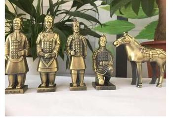 5PC SET Resin Material Number of Terracotta Warriors in Qin Dynasty Terracotta Warriors character Resin small decoration crafts