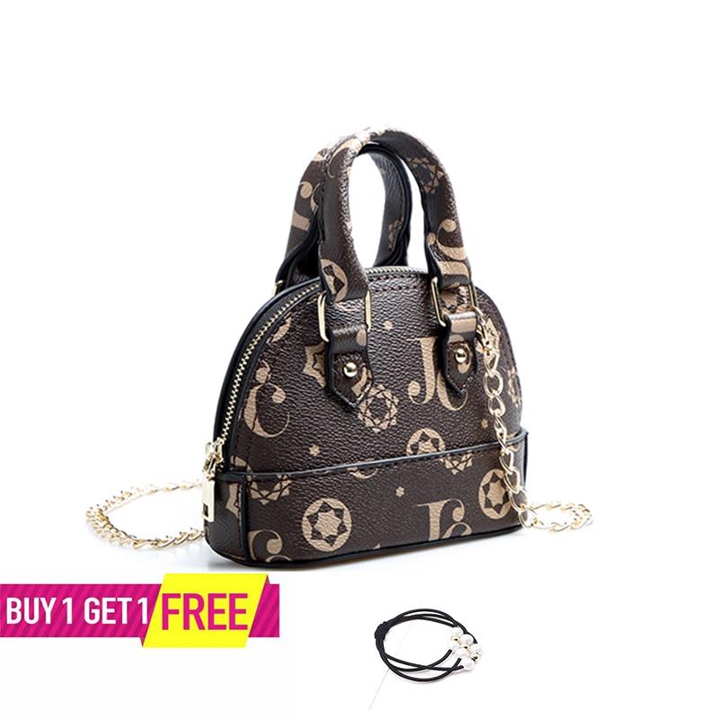 Classic Flower Print Leather Shell Bags Ins Hot Sales Mini Shoulder Handbag Fashion Lady Tote Purse  Brand Name Designer Bag