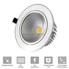 슈퍼 밝은 Recessed LED 디 밍이 가능한 통 COB 6W 9W 12W 15W LED 스포트 라이트 LED 장식 천장 조명 AC 110V 220V