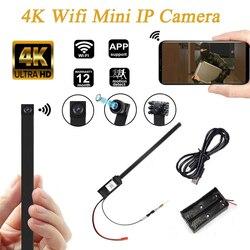 4K DIY портативная Full HD Wi-Fi IP мини-камера P2P беспроводная мини-видеокамера видеорегистратор с поддержкой удаленного просмотра TF-карты Аккумуля...